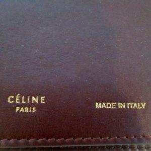 Celine Bags - NEW CELINE PARIS STRAP CLUTCH BURGUNDY Wristlet